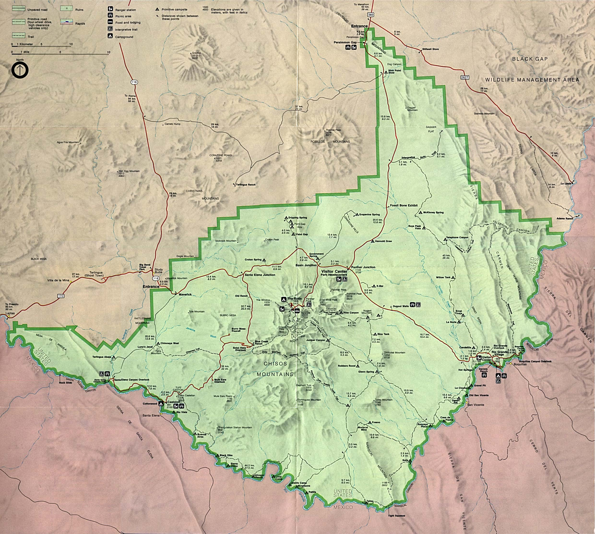 big bend map. the motorcycle tourer's forum